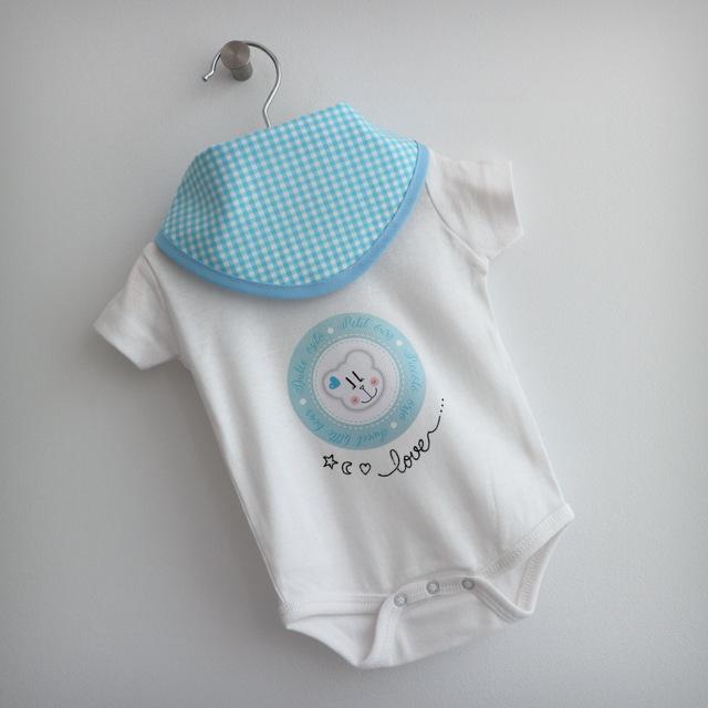 body personalizado de bebe con bandana a juego reversible punt a punt-010