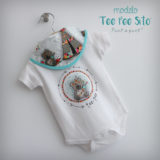body personalizado de bebe con bandana a juego reversible punt a punt-012