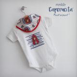 body personalizado de bebe con bandana a juego reversible punt a punt-014
