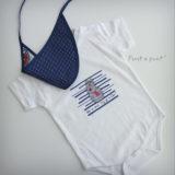 body personalizado de bebe con bandana a juego reversible punt a punt-018