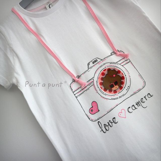 camiseta artesanal personalizada love camera punt a punt-001