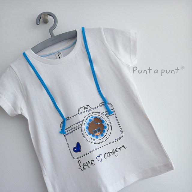 camiseta artesanal personalizada love camera punt a punt-006