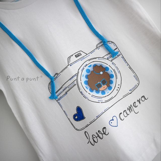 camiseta artesanal personalizada love camera punt a punt-007