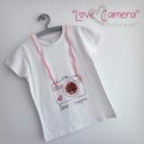 camiseta artesanal personalizada love camera punt a punt