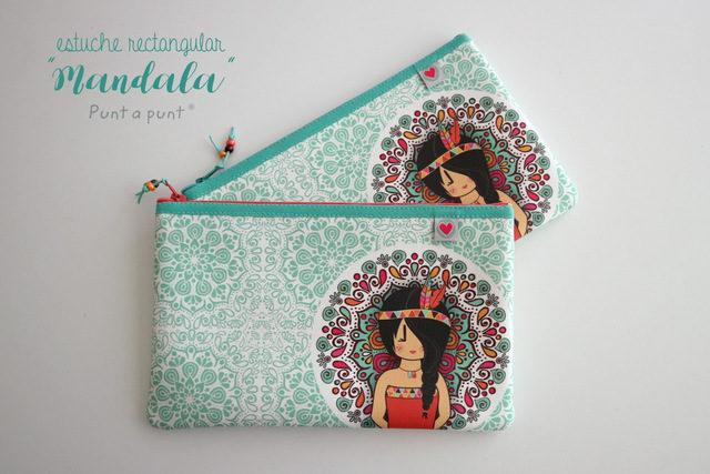 Estuche rectangular «Mandala» – en stock