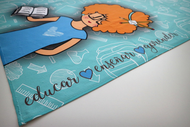 toalla de playa personalizada para profesores punt a punt-001