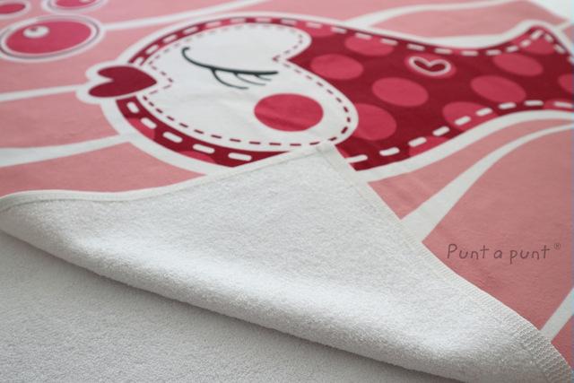 toalla playa personalizada pezquenines rosa o azul punt a punt-001