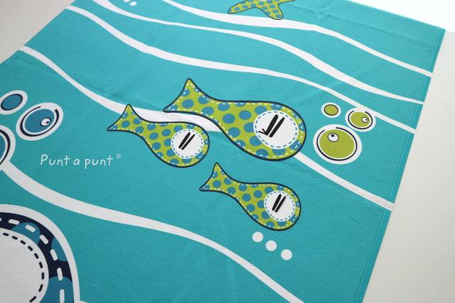 toalla playa personalizada pezquenines rosa o azul punt a punt-004