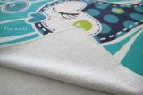 toalla playa personalizada pezquenines rosa o azul punt a punt-006