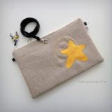 bolso bandolera o de mano estrella amarilla en stock punt a punt-005