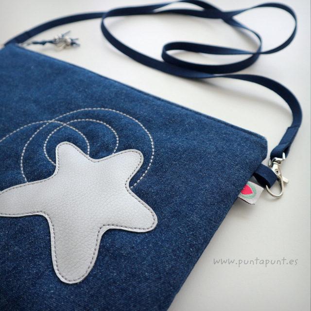 Bolso bandolera o de mano «Estrella Plata» – en stock