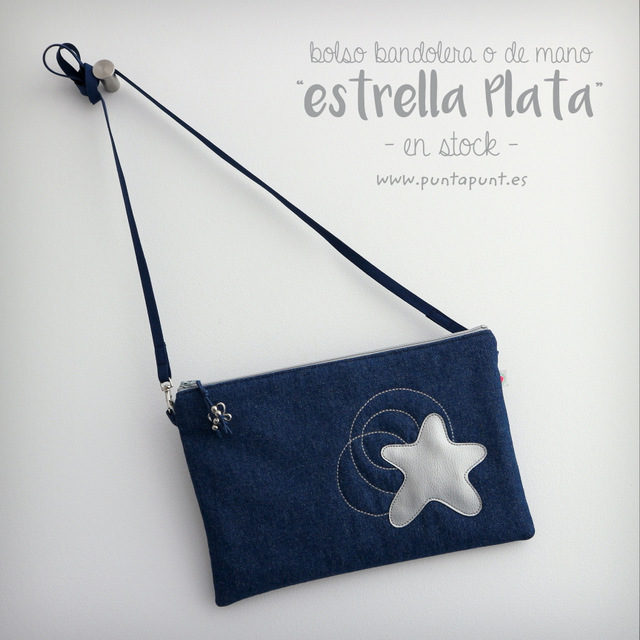 """Bolso bandolera o de mano """"Estrella Plata"""" – en stock"""