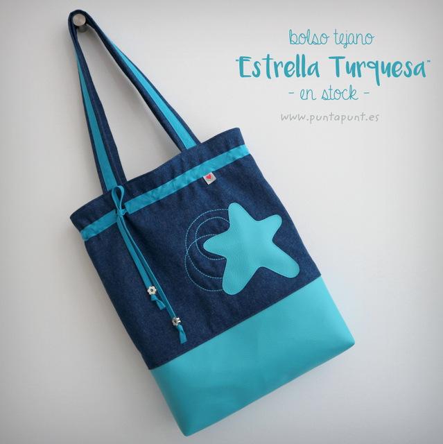 "Bolso tejano ""Estrella azul"" – en stock"