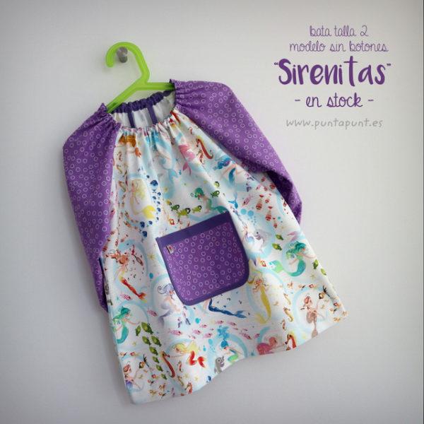 Bata escolar talla 2 años «Sirenitas» – en stock