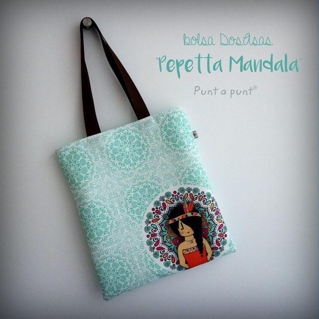 Bolsa DosAsas loneta «Pepetta Mandala»
