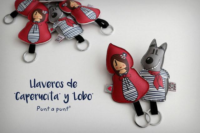 """Llaveros """"Caperucita"""" y """"Lobo""""- en stock"""