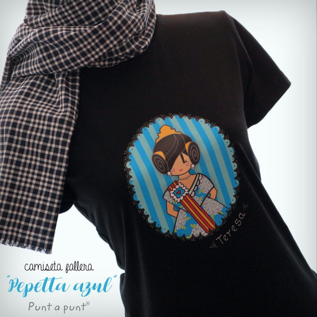 "Camisetas ""Pepetta Fallera"" rosa o azul"