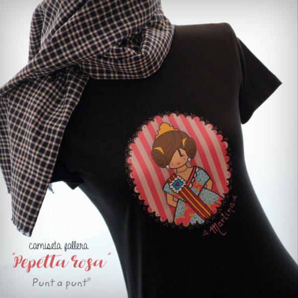 Camisetas «Pepetta Fallera» rosa o azul