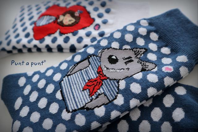 calcetines caperucita y lobo punt a punt-003