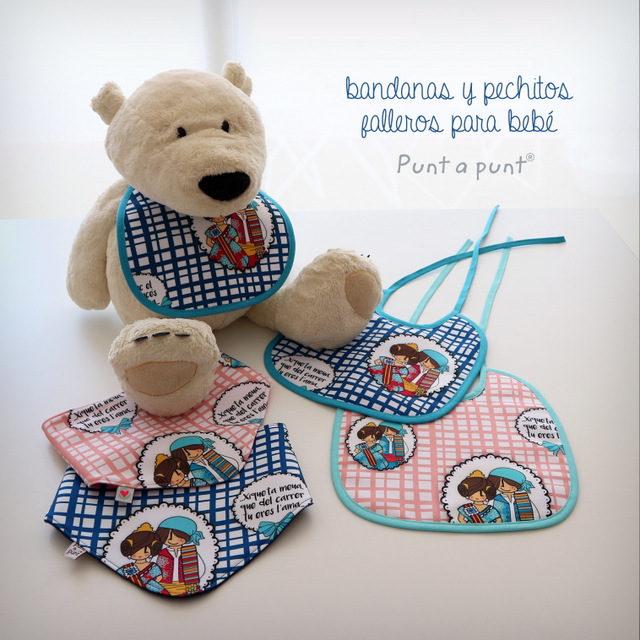 Bandana y babero fallero para bebé