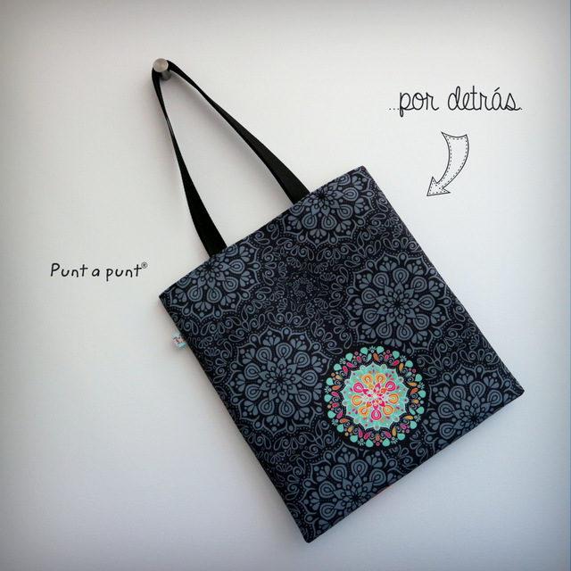 Bolsa DosAsas loneta «Mandala Black»
