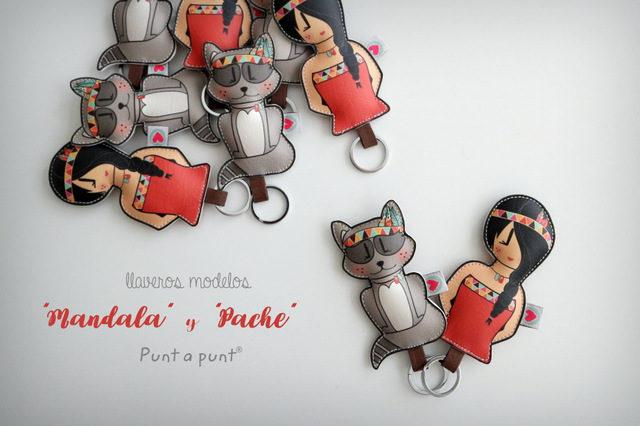 Llaveros «Pepetta Mandala» y «Pache»- en stock