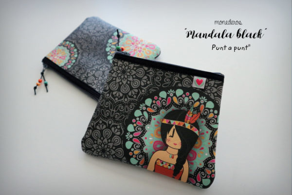 Monedero multiuso «Mandala Black» – en stock