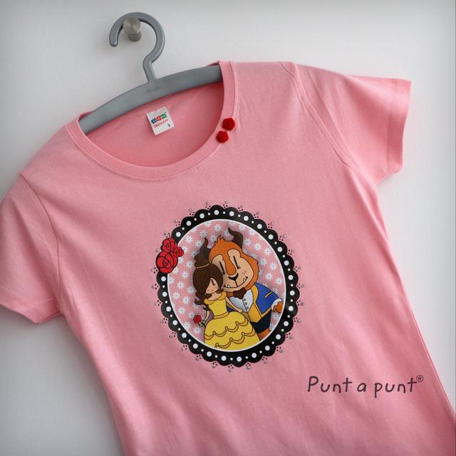 camiseta pepetta bella y bestia punt a punt-009