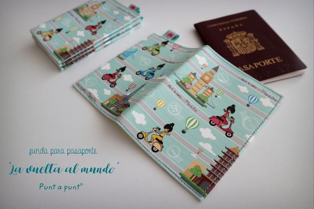 funda para pasaporte la vuelta al mundo punt a punt