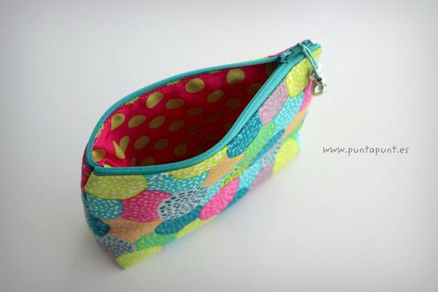 """Neceser pequeño """"Círculos multicolor"""" – en stock"""