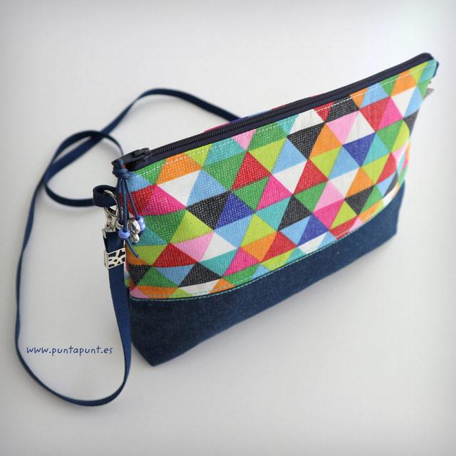 Bolso tejano bandolera «Prisma multicolor» – en stock