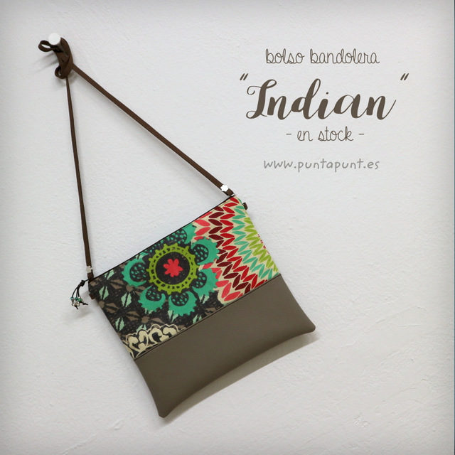 bolso bandolera indian en stock punt a punt