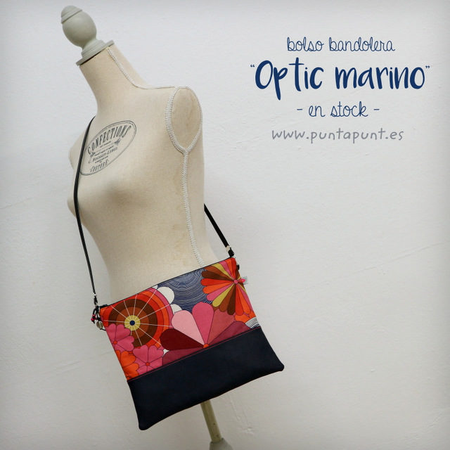 «Optic marino» Bolso bandolera o de mano – en stock