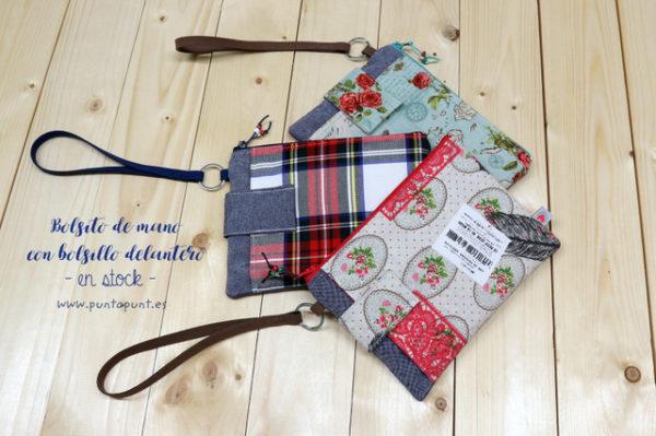 Bolsos de mano con bolsillo exterior – en stock