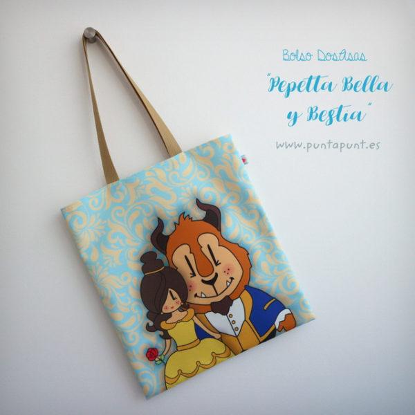 Bolsa DosAsas loneta «Pepetta Bella y Bestia»