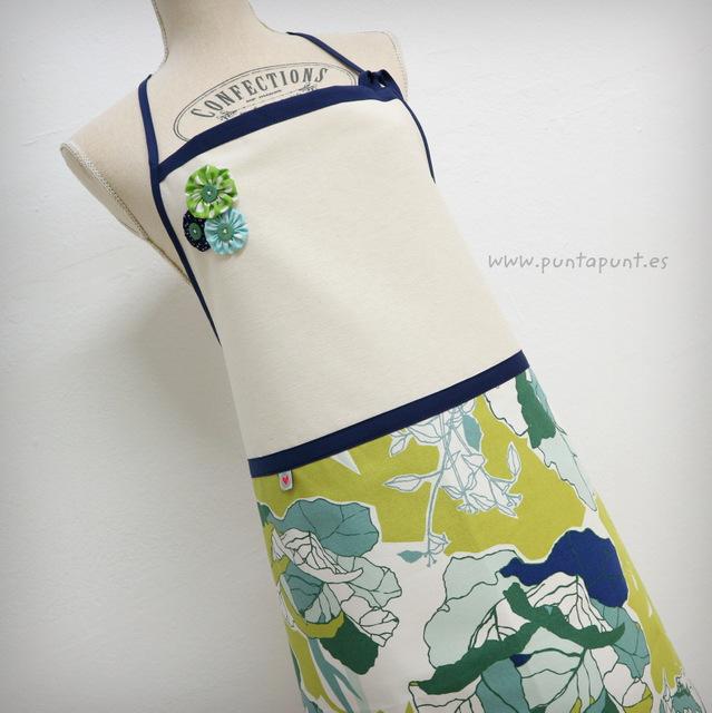Delantal «Hojas verdes» – en stock