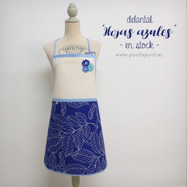 Delantal «Hojas azules» – en stock