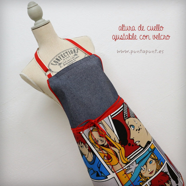 Delantal unisex «Comic Red» – en stock
