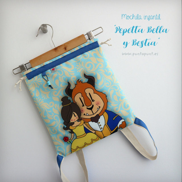 Mochila infantil «Pepetta Bella y Bestia»