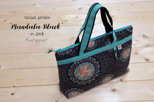Neceser Familiar «Mandala Black» – en stock