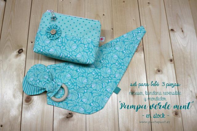 Set de 3 piezas para bebé «Pampa verde mint» – en stock