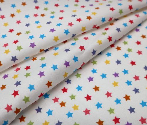 detalle textil estrellitas colores punt a punt