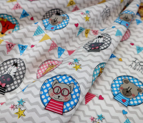 detalle textil love animals punt a punt