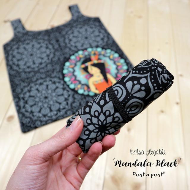 eco bolsas plegables surtidas mandala black