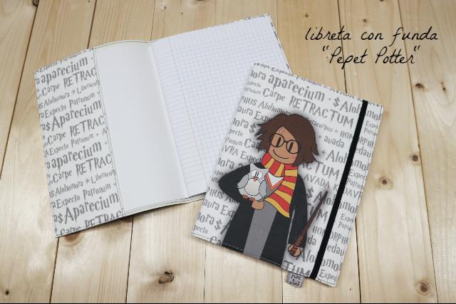 Funda cuaderno «Pepet Potter» – con libreta