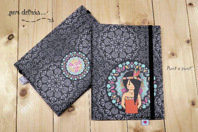 Funda cuaderno «Mandala Black» – con libreta