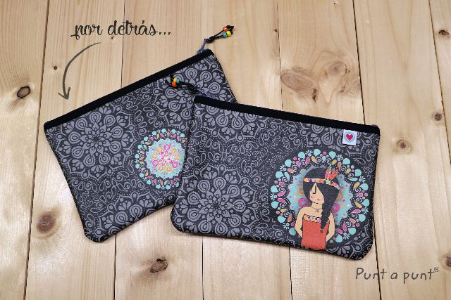 Estuche rectangular «Mandala black»