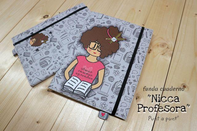 Funda cuaderno «Nicca Profesora» – con libreta