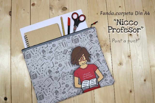 Funda carpeta para A4 «Nicco Profesor» en piel vegana
