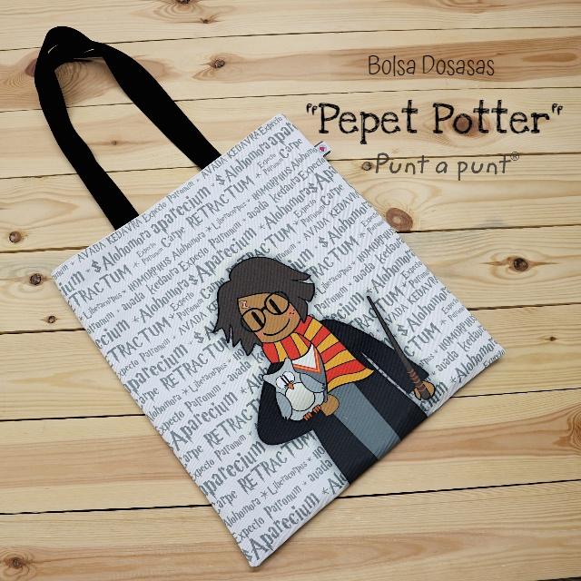 Bolsa DosAsas loneta «Pepet Potter»